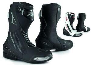 Stivali Stivaletto Moto Sportivo Pelle Pista Professionale Traspirante Racing