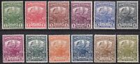 1919 NEWFOUNDLAND CONTINGENT CARIBOU SET OF 12 SG130/141 VERY FINE MINT MOST MNH