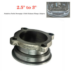 """2.5"""" to 3"""" Stainless Steel  Car Turbo Downpipe 4 Bolt Exhaust Flange Adapter"""
