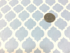 "BTY~FABRIC FINDERS 100% COTTON FABRIC~ LARGE QUATREFOIL ~ BLUE ~59""W"