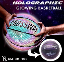 Holographic Glowing Reflective Basketball Light Up Camera Flash Glow in The Dark