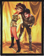 THE CRAMPS PATCH POISON IVY & LUX INTERIOR LEOPARD TIGER PSYCHOBILLY GARAGE A6+