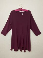 Sympli the Best Canada Peplum Drop Top Tunic Sangria Red 3/4 Sleeve NWT Size 16