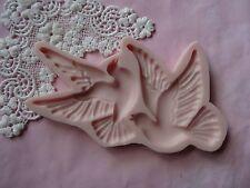 First Communion Doves, birds silicone mold fondant cake decorating wax soap FDA