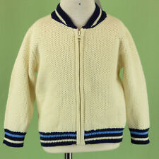 298 NWT GAP boy cardigan sweater full zip long sleeve ivory blue NEW 18-24 m
