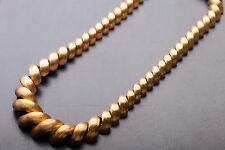 "Vintage Signed $20,000 18k Yellow Gold 17"" Necklace 103g RARE HEAVY"