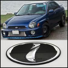 02-05 Subaru black i logo Front Grill Emblem Badge WRX STI Impreza Grille JDM