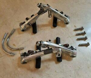 Shimano Deore BR-M600 V-Brakes Caliper Set front and rear arms retro