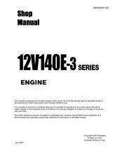 KOMATSU 12V140E-3 SERIES ENGINE WORKSHOP SHOP MANUAL REPRINTED COMB BOUND