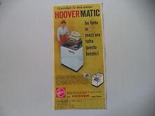 advertising Pubblicità 1960 LAVATRICE HOOVER  HOOVERMATIC