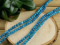 BLUE KYANITE Bead Necklace Wrap Bracelet - Round Gemstone Crystal Jewelry E1042
