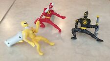 Power Rangers Dino Thunder Ranger kicking action toy McDonald's Collectible x 3