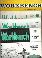 8 Workbench Magazines 1958 1960 and more Power Tools Workshop Beach House Table