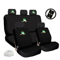 New Semi Custom Frog Logo Car Seat Covers w Steering Wheel Cover Set For VW