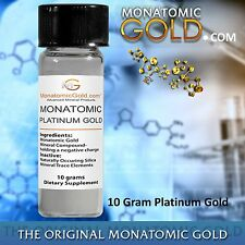 MONATOMIC PLATINUM GOLD *ORMUS* WHITE POWDER GOLD* 10 gram Andara M-7 Detox