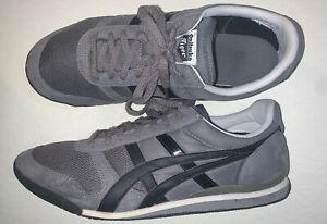 Asics Onitsuka Tiger Trainers Shoe Men Size 12 Grey Suede Black Ultimate 81