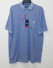 CHAPS RALPH LAUREN NWT Blue/White Embroidered Logo Knit Polo Shirt Mens sz L