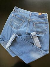 Vintage 90s 501 XX Levi's Jeans Button Fly Made In USA Blue Denim 35 X 30 Wash