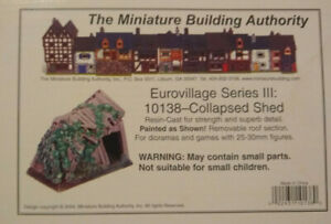 MBA 25mm Eurovillage Series 10138 Collapsed Shed Miniature Building Authority