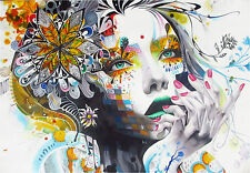 A0 size canvas print  Urban princess modern  graffiti street art