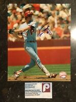 VON HAYES AUTOGRAPHED SIGNED AUTO BASEBALL PHOTO 8x10 PHILLIES