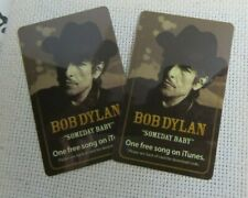 "+/      BOB DYLAN  PROMO I tunes cards 2 pcs 'SOMEDAY BABY """