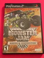 SONY PS2 PlayStation Two 💯COMPLETE WORKING GAME MONSTER JAM MAXIMUM DESTRUCTIO