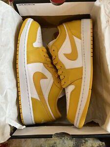 Nike Air Jordan 1 Low Pollen White Yellow 553558-171 Men's Size 12 Brand New
