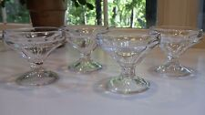 Set of 4 Vintage Footed Ice Cream Dishes