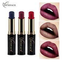 12 Colors Long Lasting Matte Metallic Lipstick Beauty Makeup Lip Gloss Cosmetics