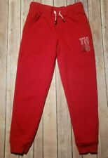Tommy Hilfiger Sweatpants Jogger Pants Red Drawstring Pockets Youth Girls M