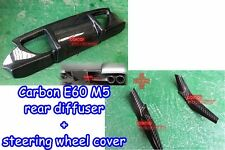 Carbon Fiber BMW 06~10 E60 M5 Sedan DTO rear diffuser + steering wheel cover ◎