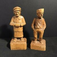 Quebec Folkartist Ferdinand Boucher Pair Carved Couple