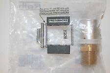 """Roth RG- Übergangsnippel 20 mm x 1/2"""" AG Rotguss 1135000532 Press Check Übergang"""