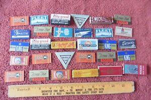 Lot of 30 Razor Blades Vintage Tri-plex Peacock Shawmut Pal Durham Duplex Doe ++