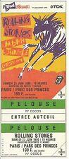 RARE / TICKET DE CONCERT - THE ROLLING STONES LIVE A PARIS FRANCE 1990 UNUSED