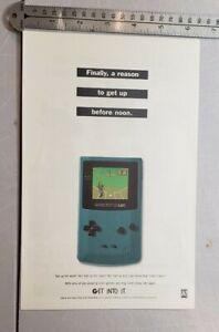 Game Boy Color RARE Print Advertisement