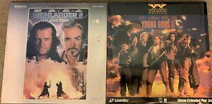 2 Laserdisc Lot - Highlander 2 and Young Guns II
