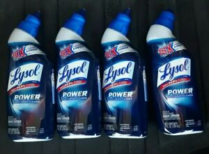 Lysol Power Toilet Bowl Cleaner Kills 99.9% of Bacteria and Virus Lot Of 4