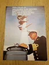 VTG 1967 Holland America Line Cruise Safety On Board Booklet Sperry Mather Platt
