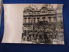 ancien photo guerre militaire lyon occupation wehrmacht 1940 kommandentur soldat