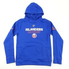 New York Islanders Boys Adidas Hooded Sweatshirt Blue NHL Fleece Lined XL 18 New
