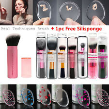 Real Techniques Brushes Starter Kit Sculpting Powder Blush Set+Silisponge FREE