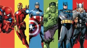 DC Avengers Superhero vinyl banner backdrop 2.1m x 1.5m