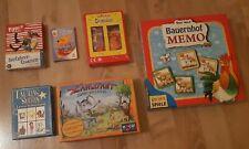 Sammlung 6 Kinderspiele Spiele Gesellschaftsspiele Kartenspiele für Kinder Set