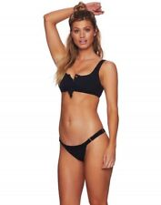 Beach Bunny Swimwear Rib Tide Bralette Bikini Top -Black