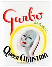Queen Christina Poster Greta Garbo On Window Card 1933 OLD MOVIE PHOTO