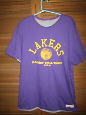 NWOT LOS ANGELES LAKERS 1949 CHAMPIONS REVERSIBLE MITCHELL & NESS t-shirt XL