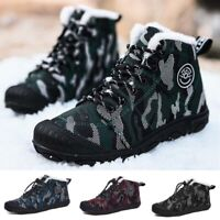 BOYS GIRLS CAMOUFLAGE SNOW BOOTS OUTDOOR WARM FUR LINED BOOTS KIDS WINTER SHOES