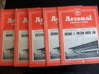 ARSENAL v ASTON VILLA   LEAGUE DIVISION 1  Postponed 2nd Jan  1953/4
